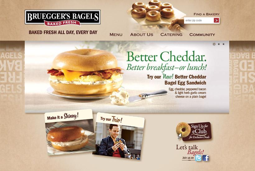 Bruegger's Bagels website thumbnail