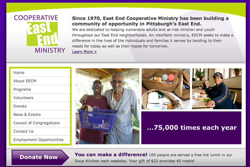 East End Cooperative Ministry website thumbnail