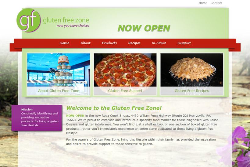 Gluten Free Zone website thumbnail
